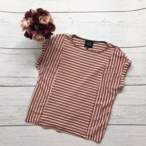 W5 Red and White Stripped Top